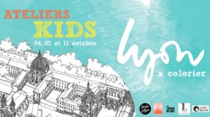 """Ateliers Kids """" Lyon à colorier """""""