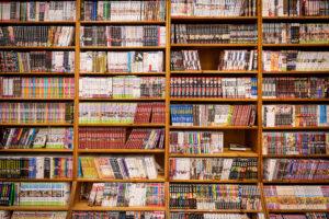 Rayon de livres chez Momie Mangas Lyon