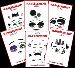 les cartes en main contre le harcèlement